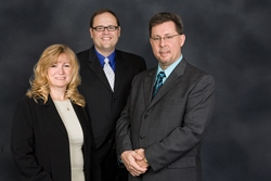 Photo of Stephanie Drake, Ron Grutza, and Ed Troxell