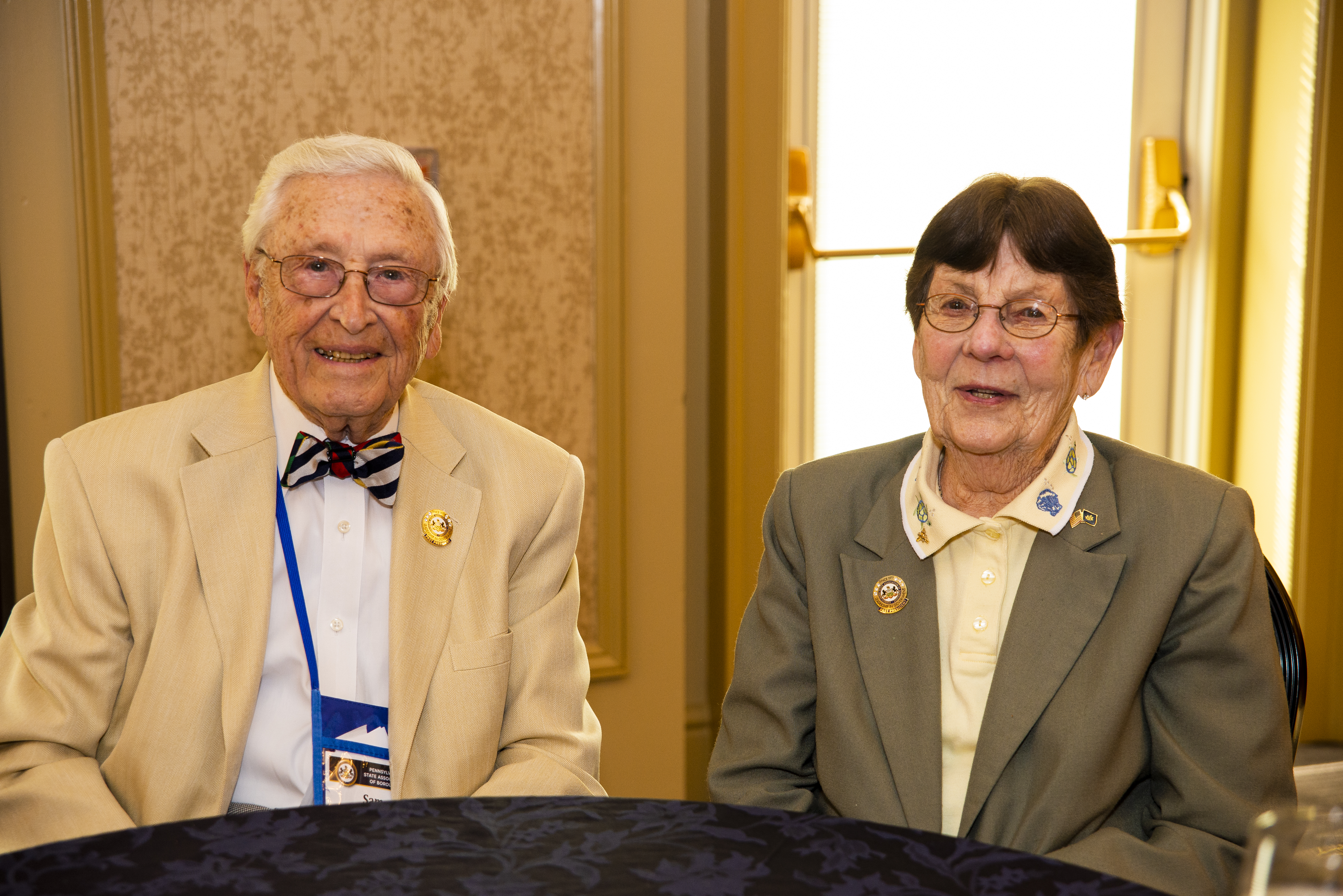 PSAB Past Presidents Sam Worley and Betty Ann Moyer