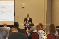 Attorney Mike Palombo from Campbell, Durant, Beatty, Palombo & Miller, spoke about HIPAA and public and privacy laws.