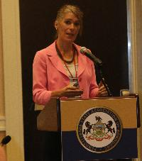 Audrey Buglione, Esq., spoke about solutions for the Right to Know Request Officer.