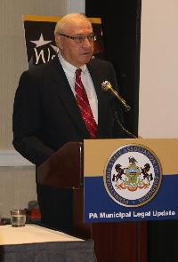 Professor John Gedid, Founder of the Widener Law and Government Institute, presented the general session on the topic of the PA Constitutional Convention process.