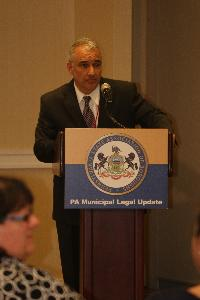 Attorney Dave Greene from the PA Local Government Commission, spoke about public meetings and First Amendment Rights.