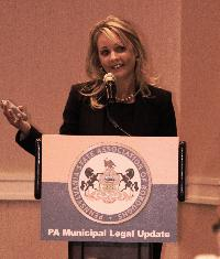 Attorney Jennifer Will from McNees Wallace & Nurick LLC spoke about regulating employees' off-duty behaviors.