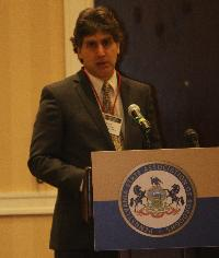 Brook Lenker, executive director of the FracTracker Alliance, spoke about the safety issues of crude oil.
